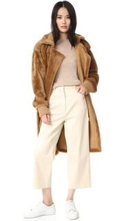 Пальто из короткой шерсти в стиле милитари Tibi