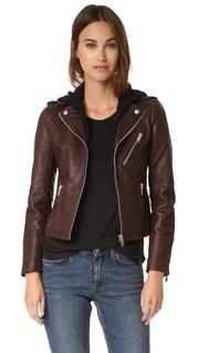 Байкерская куртка со съемным капюшоном Doma