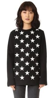Длинный пуловер со звездами Gareth Pugh