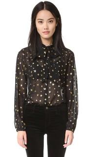 Блуза со звездами Scotch & Soda/Maison Scotch