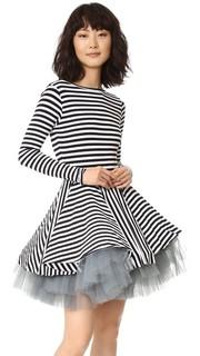 Платье в полоску с длинными рукавами Natasha Zinko