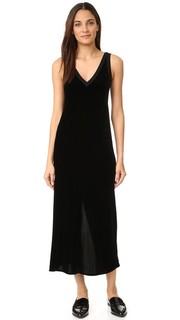 Платье-комбинация с V-образным вырезом и разрезом сзади Dkny
