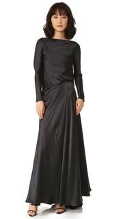 Платье из шармеза с длинными рукавами и драпировкой на спине Edun