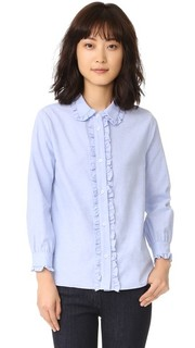 Рубашка на пуговицах с оборками English Factory