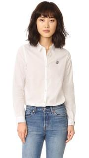 Рубашка с вышивкой в стиле преппи Scotch & Soda/Maison Scotch