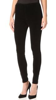 Комфортные брюки-скинни Looker с высокой талией Mother
