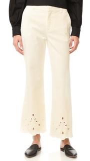 Расклешенные джинсы с кружевным шитьем See by Chloe
