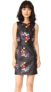 Платье Lira из кожи с принтом Tanya Taylor