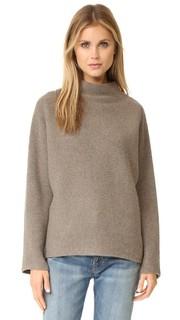 Укороченный свитер в горизонтальный рубчик Vince