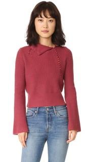Кашемировый свитер с отложным воротником Derek Lam 10 Crosby