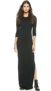 Кашемировое платье с разрезом сбоку Enza Costa