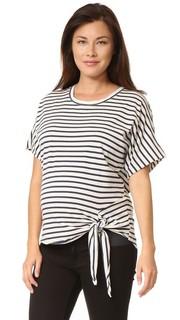 Свободная футболка в полоску для беременных Monrow