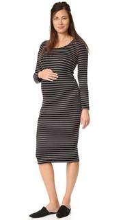 Платье для беременных в полоску Monrow