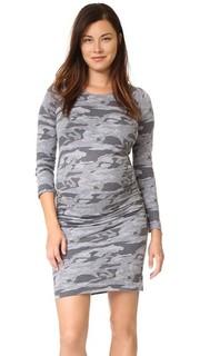 Объемное бейсбольное платье с камуфляжным принтом для беременных Monrow