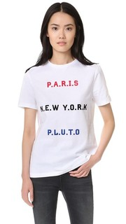 Футболка Paris, New York, Pluto Etre Cecile