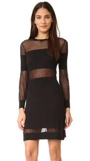 Платье с длинными рукавами и вырезами с сеткой Intropia