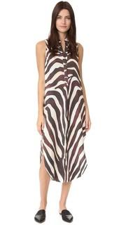 Платье-рубашка с принтом под зебру Mara Hoffman