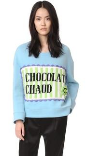 Объемная толстовка с надписью «Chocolat Chaud» Michaela Buerger