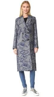 Пальто из жаккарда с изображением роботов Mira Mikati