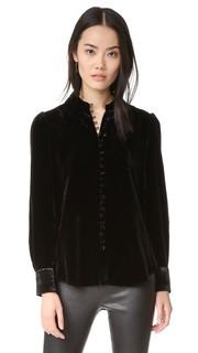Бархатная блуза на пуговицах в викторианском стиле Frame