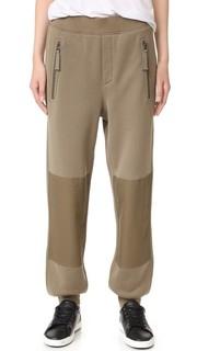 Спортивные брюки с нашивками на коленях Helmut Lang