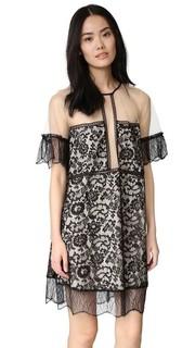 Кружевное платье-комбинация со вставками Kendall + Kylie