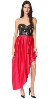 Платье без бретелек Moschino