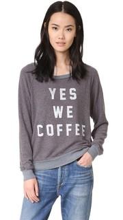 Толстовка с надписью «Yes We Coffee» Sol Angeles