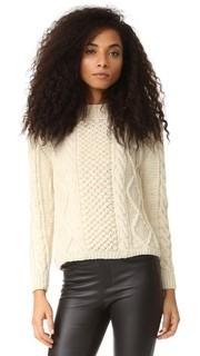 Пуловер с косичками Aran Tejido