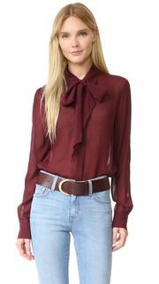 Блуза из шифона с завязками Frame