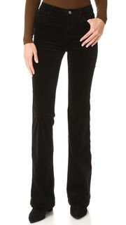Бархатные расклешенные брюки Maria J Brand