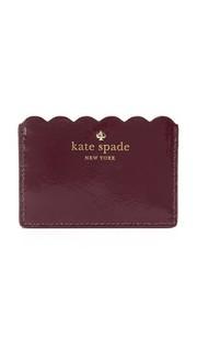 Визитница из лакированной кожи Kate Spade New York