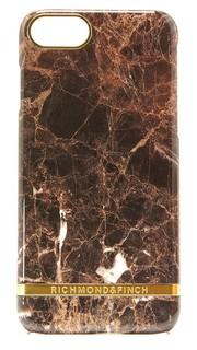 Чехол для iPhone 7 с коричневой мраморной отделкой Richmond & Finch