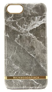 Чехол для iPhone 7 с принтом под серый мрамор Richmond & Finch