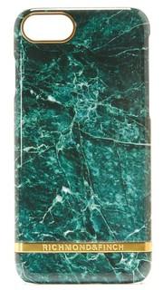Чехол для iPhone 7 с принтом под зеленый мрамор Richmond & Finch
