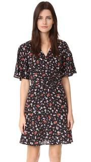 Шелковое платье с комбинированным принтом The Kooples
