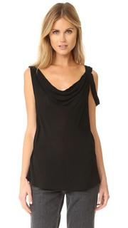 Блуза с драпированным вырезом Wilt