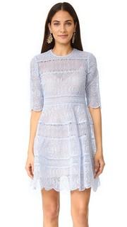 Расклешенное мини-платье Adorn с вышивкой Zimmermann