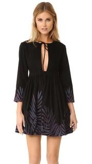 Мини-платье с вышивкой в виде листьев Mara Hoffman