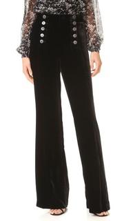 Бархатные брюки в морском стиле Nanette Lepore