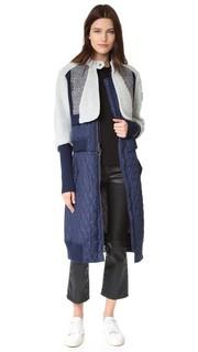 Пальто Sabra из комбинированных материалов Bcbgmaxazria