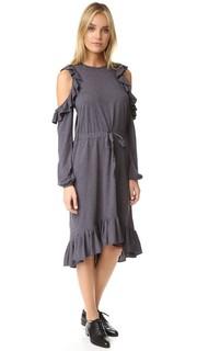 Платье с открытыми плечами Clu