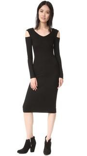 Миди-платье с открытыми плечами Enza Costa