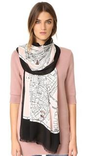 Продолговатый шарф с картой Нью-Йорка Kate Spade New York