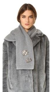 Кашемировый шарф с декоративной отделкой Marc Jacobs