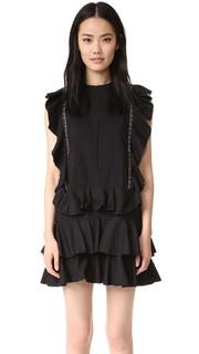 Мини-платье с оборками Piper