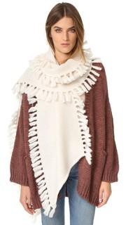 Асимметричный шарф с бахромой Rebecca Minkoff