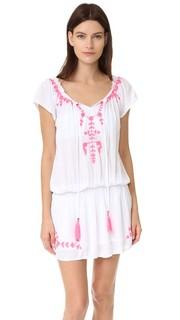 Платье с открытыми плечами Tulum с вышивкой Tiare Hawaii