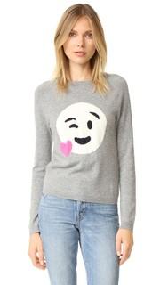 Кашемировый свитер с изображением сердца и смайла Chinti and Parker