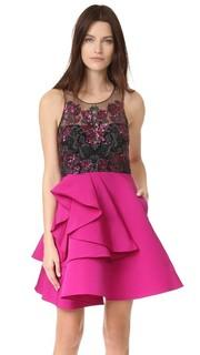 Коктейльное платье с вышивкой с блестками Marchesa Notte